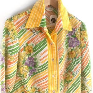 Vintage Floral & Stripe Blouse, Alex Coleman